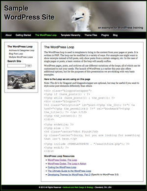 Screenshot of WordPress Sample Site