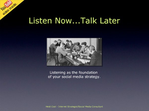 Listen Now, Talk Later Presentation graphic