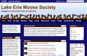 Lake Erie Moose Society on Ning