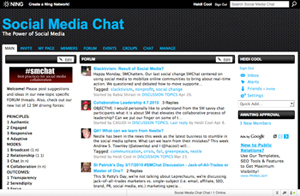 Social Media Chat (#smchat) on Ning