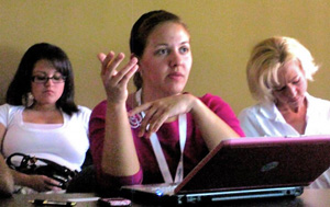 Participants in WordPress training