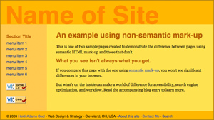 NonSemantic Web Page Example Firefox 3.5