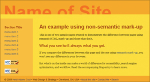 NonSemantic Web Page Example IE 6