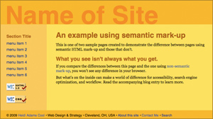 Semantic Web Page Example Firefox 3.5